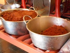 Freshly ground cocoa at Mayordomo.
