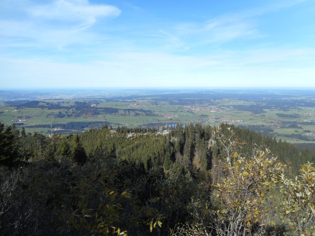 The view looking north, towards Kempten.