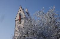 Snow in Bad Waldsee: Tower
