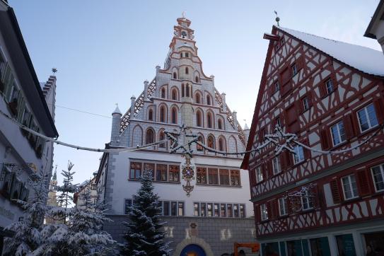 Snow in BW Altstadt