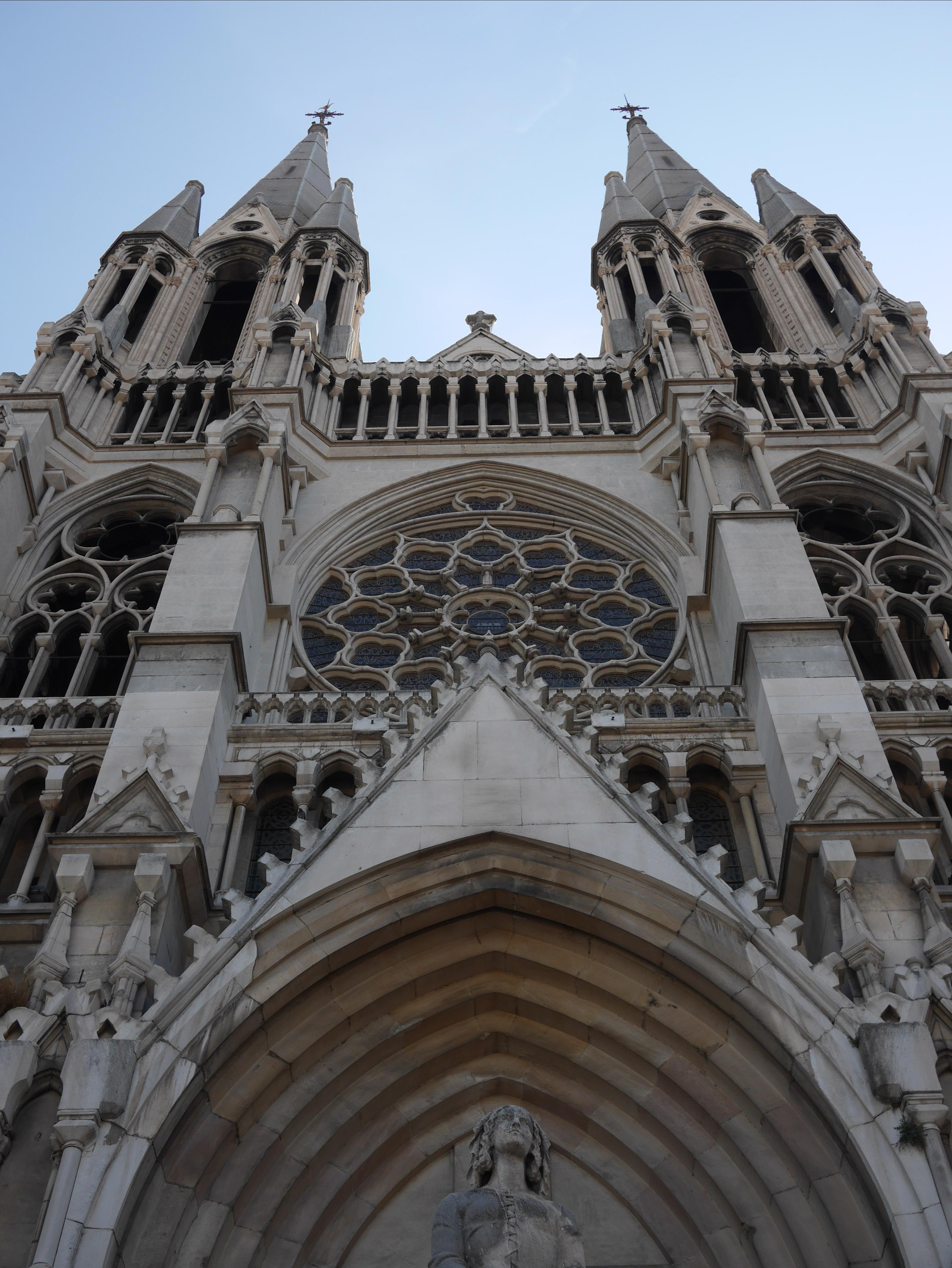 Joan of Arc before the Church of Saint Vincent de Paul